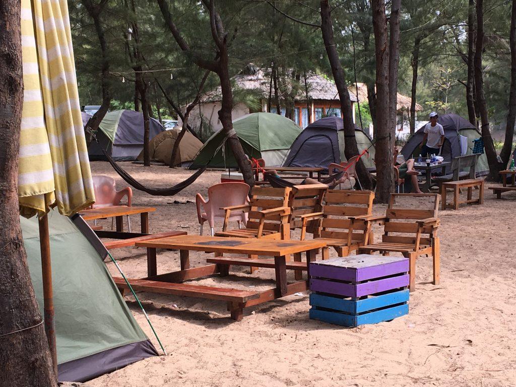 Một góc nhỏ trong khu cắm trại